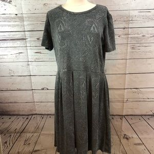 LuLaRoe grey gray Amelia dress